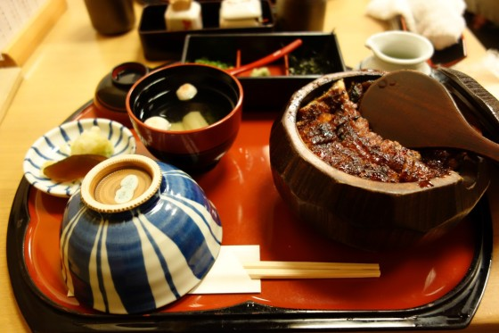 miso soup with unagi